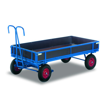 Handpritschenwagen - Traglast 700 kg - Bereifung und Ladefläche wählbar