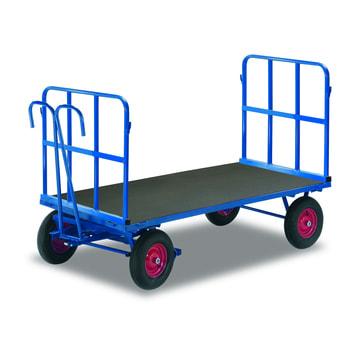 Handpritschenwagen mit Rohrgitterwänden - Bereifung und Ladefläche wählbar