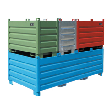 Sammel- Transportbehälter - Stahl - Farbe wählbar - 1.000kg - 1.000 l,1200x1200x850mm