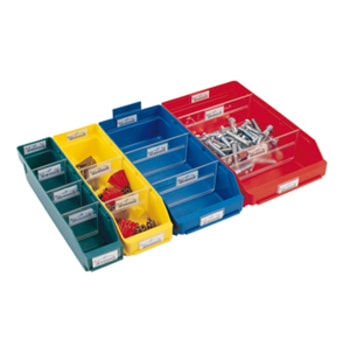 Regalkästen - PP - 95x90x400 mm - Farbe wählbar - 40 Stück - Sortierkästen