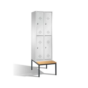 Beispielabbildung doppelstöckiger Garderobenschrank mit Sitzbank, die Farbe entnehmen Sie bitte der Artikelbeschreibung