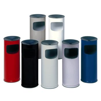 Abfallsammler - schwarzer Ascheraufsatz - rund - Volumen 17 l - 610 x 250 x 250 mm (HxBxT) - Farbe wählbar