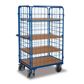 Etagenwagen - 4 Wände - 4 Etagen - Ladefläche wählbar - Traglast ab 400 kg