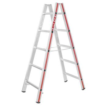 Beispielabbildung der Stehleiter. Leiterlänge und Anzahl der Sprossen entnehmen Sie bitte der Beschreibung.