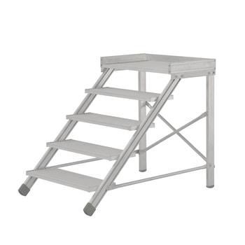 Beispielabbildung Treppenpodest, hier in der Variante mit 5 Stufen (inkl. Plattform)