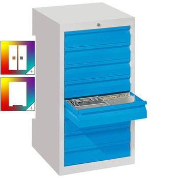 Beispielabbildung Schubladenschrank, 1 Schubladenreihe