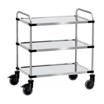 Fetra - Servierwagen - Bürowagen - 150 kg - Ladefläche wählbar - 3 Böden