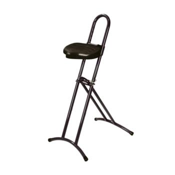 Beispielabbildung klappbare Stehhilfe, hier in der Ausführung mit schwarzem Gestell