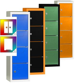 Schließfachsäule mit vier Fächern - Farbkombination wählbar