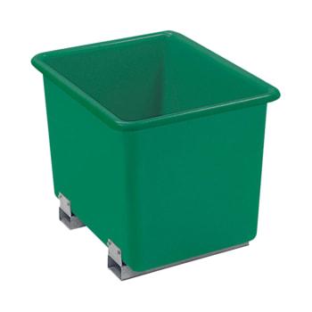 Beispielabbildung Rechteckbehälter hier in der Ausführung in grün, mit Staplertaschen (nicht im Lieferumfang enthalten)