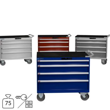 Lista Schubladenschrank - fahrbar - 78.778/78.779 - 962 x 1.023 x 572 mm (HxBxT) - 4 Schubladen - 75 kg - Key oder Code Lock