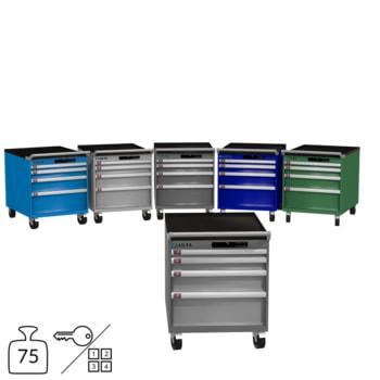 Lista Schubladenschrank - fahrbar - 78.540/78.541 - 723 x 564 x 725 mm (HxBxT) - 4 Schubladen - 75 kg - Key oder Code Lock