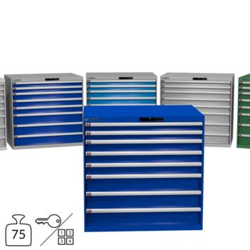 Lista Schubladenschrank - 1.000x1.023x725 mm (HxBxT) - 8 Schubladen - 75 oder 200 kg - 78.294/78.304/78.189/14.513 - Key oder Code Lock