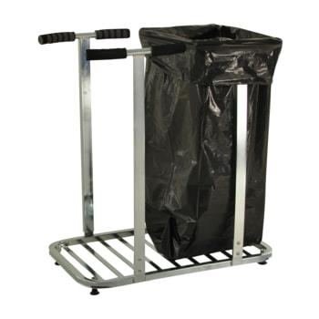 Beispielabbildung: Müllsackständer, hier in der Ausführung für zwei Müllsäcke, mit Füßen (Müllsack nicht im Lieferumfang enthalten)