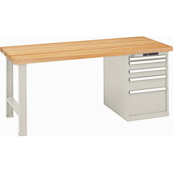 Produkt ähnlich, die Ausführung (Arbeitsplatte, Farbe, Anzahl Schubladen, Schließsystem) entnehmen Sie bitte der Artikelbeschreibung.