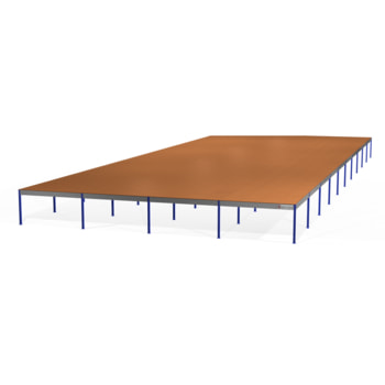 Lagerbühne - Unterkante 3.000 mm - Traglast 500 kg/qm - Perlweiß (RAL 1013) - Böden und Größe wählbar