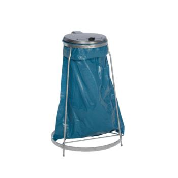 Beispielabbildung Müllsackhalter, hier in der stationären Ausführung, Kunststoff Deckel (Müllsack nicht im Lieferumfang enthalten)