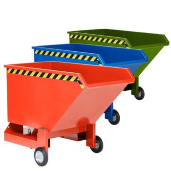 Kippwagen mit Rollen - 800 l Volumen - Traglast 600 kg - Farbe wählbar
