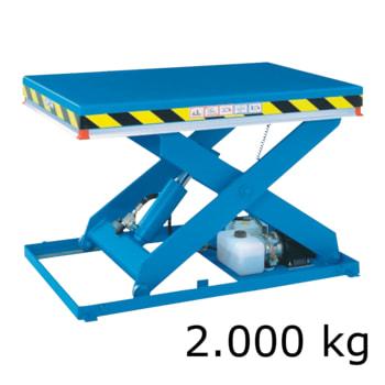 Langlebiger, robuster und hoch belastbarer Scherenhubtisch - Traglast 2.000 kg - Maße wählbar