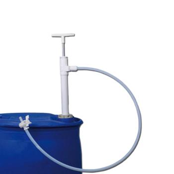 PTFE Fasspumpe mit Auslaufschlauch und Absperrhahn - Fass nicht im Lieferumfang enthalten
