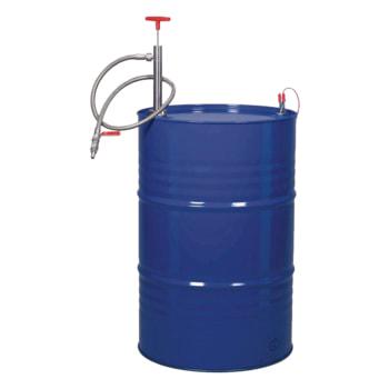 Edelstahl Fasspumpe mit Auslaufschlauch und Kugelhahn - Fass und Anti-Statik Set nicht im Lieferumfang enthalten