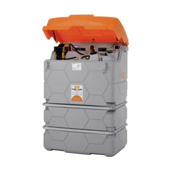 Mobile Outdoor Schmiertstoff-Tankanlage mit Deckel - für den Außengebrauch - Abbildung mit 1.000 l Volumen