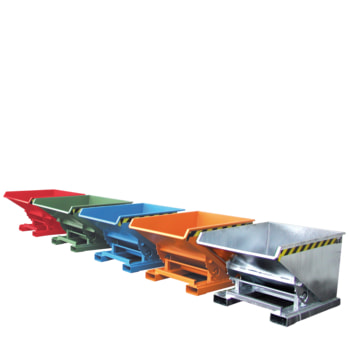 Kippbehälter - Abrollsystem - Volumen 1.700 l - Traglast 1.500 kg - 1.095 x 1.570 x 1.720 mm (HxBxT)
