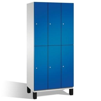 Abbildung zeigt Spindschrank mit Türfarbe Enzianblau (RAL 5010) - Bitte beachten Sie die Farbe des Artikels in der Artikelbeschreibung