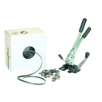 Umreifungs-Set mit einteiligem Spann- und Verschlussgerät und PP-Kunststoffband