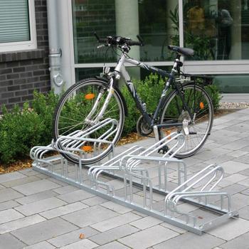 Beispielabbildung zeigt beidseitigen Fahrradständer für 10 Fahrräder. Das Fahrrad ist nicht im Lieferumfang enthalten.