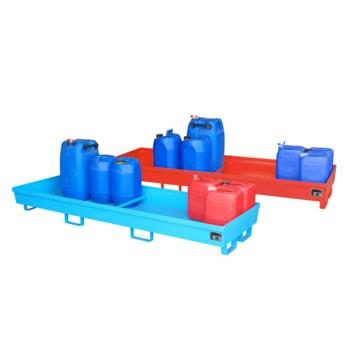 Ineinander stapelbare Auffangwanne ohne Gitterrost - 280 l Volumen - Breite 2.400 mm