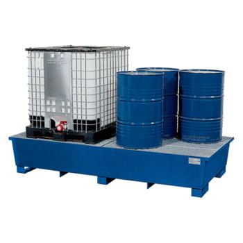 Beispielabbildung IBC-Station aus Stahl: hier in der lackierten Ausführung, 415x2.680x1.650 mm
