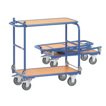 Fetra - Klappwagen - Tragkraft 250 kg - Tischplatte - blau - Ladefläche wählbar