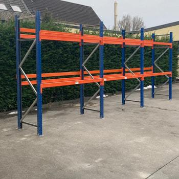 Gebrauchtes Palettenregal - ca. 3.500 x 14.100 x 1.100 mm - Schwerlastregal - Arestant - 2,42 Tonnen