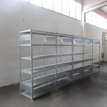 Steckregal Industrieregal Archivregal Ordnerregal Fachbodenregal - 2.000 x 8.000 x 600 mm - 48 Fachböden - Meta