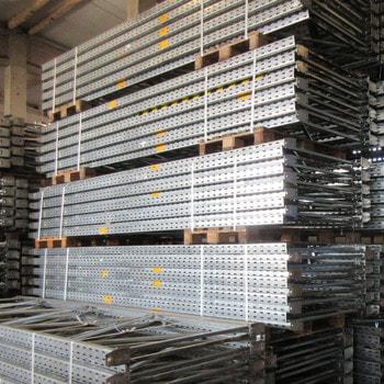 Gebrauchtes Palettenregal - ca. 5.550 x 26.000 x 1.100 mm - 4.800 kg - Dexion Speedlock Super 4