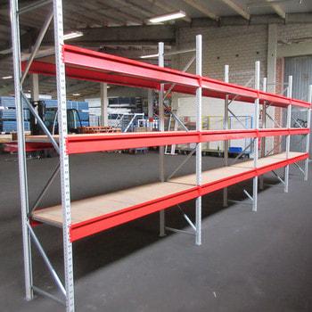 Weitspannregal m. Holzeinlage - 600 kg - (HxBxT) ca. 2.500 x 7.700 x 600 mm