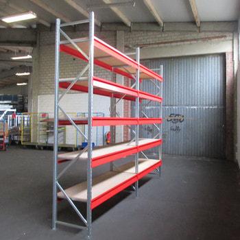 Weitspannregal m. Holzeinlage - 600 kg - (HxBxT) ca. 3.000 x 3.900 x 600 mm