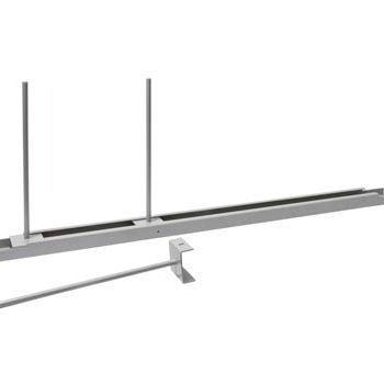 Fachteilerstab für Längsträger - Tiefe 500 mm - weißaluminium