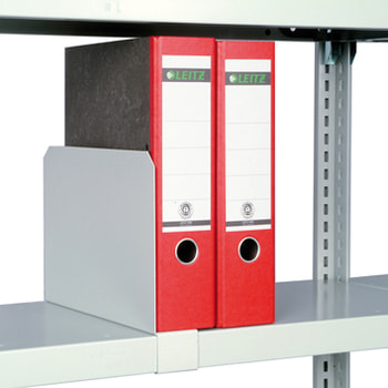 Fachteiler verschiebbar, für Stahlfachböden, Höhe 200 mm, für Fachbodentiefe 600 mm, verzinkt