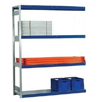 Weitspannregal EMIL - 3.000 x 1.750 x 500 mm (HxBxT) - Fachlast 400 kg - Anbauregal - Stahlpaneele - Lagerregal
