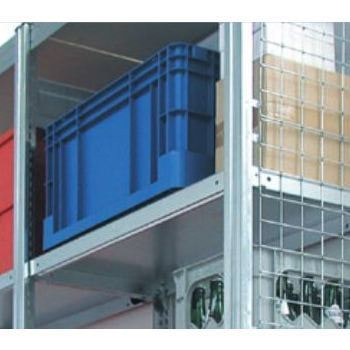 Gitterseitenwand für 2.500 x 400 mm (HxT) Steckregal BERT, verzinkt
