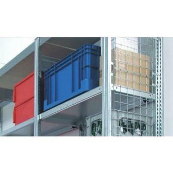Gitterseitenwand für 2.500 x 600 mm (HxT) Steckregal BERT, verzinkt