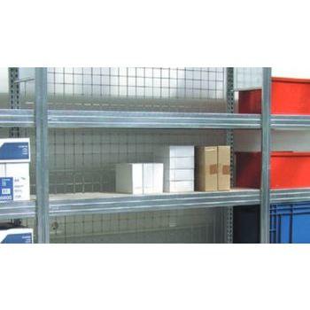Gitterrückwand für 2.500 x 875 mm (HxB) Steckregal BERT, verzinkt