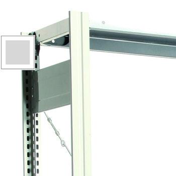 Fachbodenregal mit Tiefenriegel - 150 kg - 2.000 x 875 x 400 mm (HxBxT) - Grundregal - Rahmen lichtgrau - Böden verzinkt - BERT Grundregal | RAL 7035 Lichtgrau