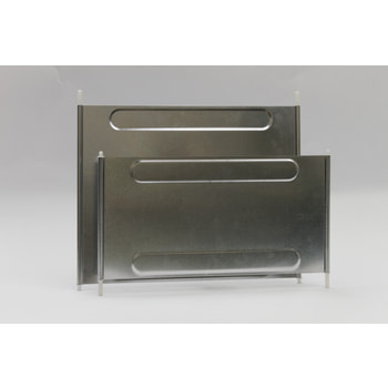 Fachteiler, Stecktrennwand, für Stahlfachböden, Höhe 410 mm, für Fachbodentiefe 400 mm, verzinkt