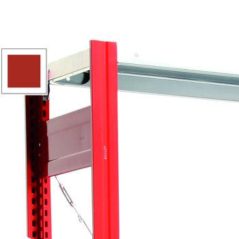 Fachbodenregal mit Tiefenriegel - 150 kg - 2.500 x 1.285 x 300 mm (HxBxT) - Grundregal - Rahmen feuerrot - Böden verzinkt, Steckregal BERT Grundregal | RAL 3000 Feuerrot