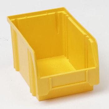 Sichtlagerkasten, Größe 1, 130 x 140 x 230 mm (HxBxT), gelb