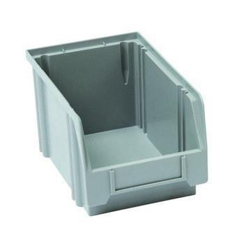 Sichtlagerkasten, Größe 1, 130 x 140 x 230 mm (HxBxT), grau