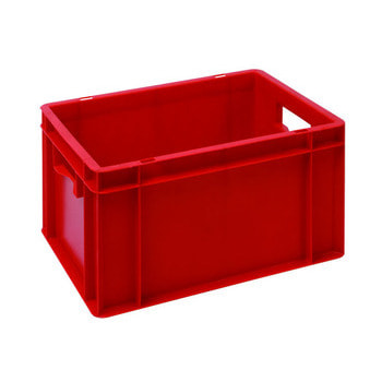 Eurobehälter, Größe 2, 210 x 300 x 400 mm (HxBxT), rot